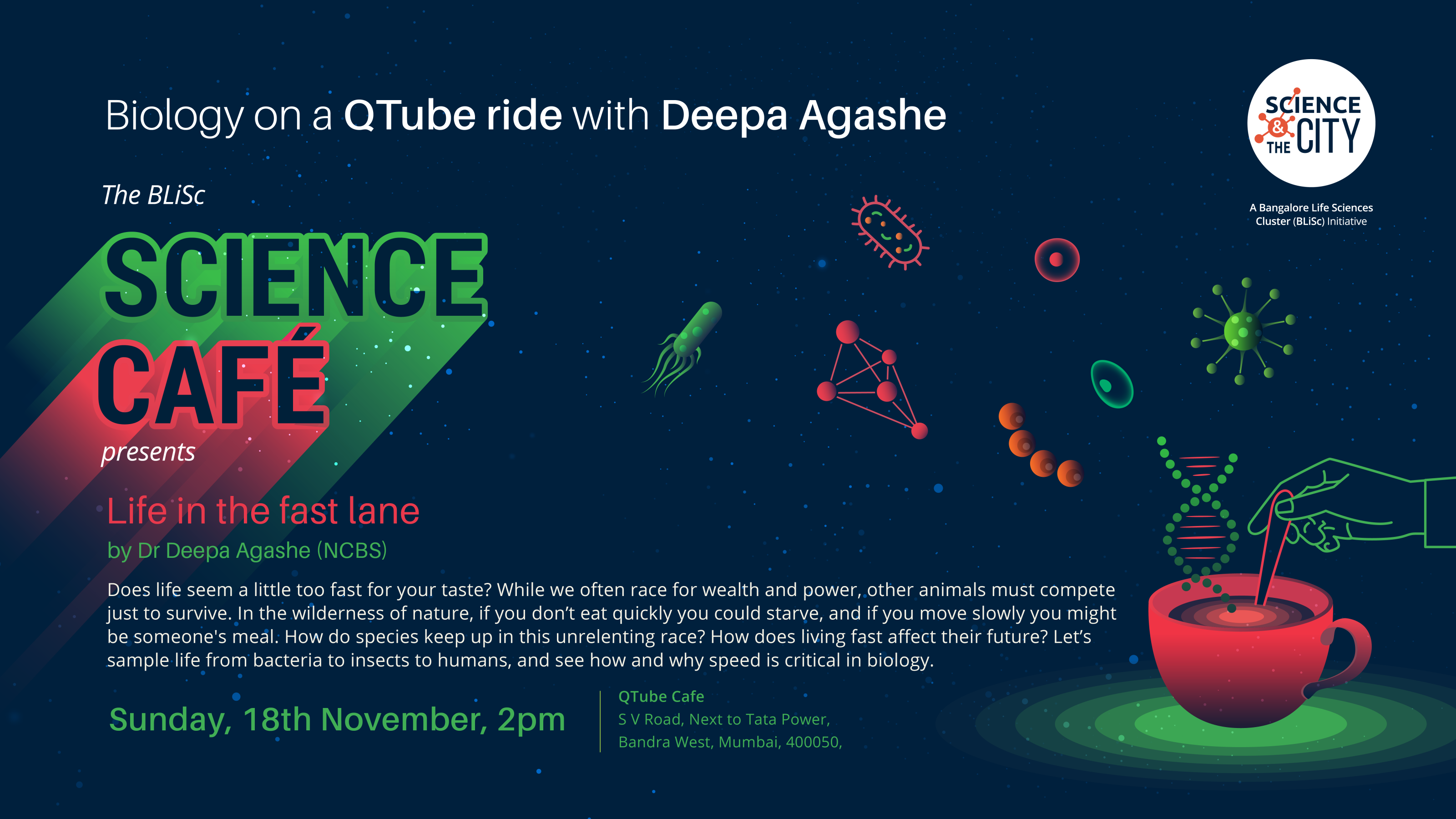 3babdafc8948bf Science Cafe  Mumbai Edition   Biology on a QTube ride with Deepa Agashe