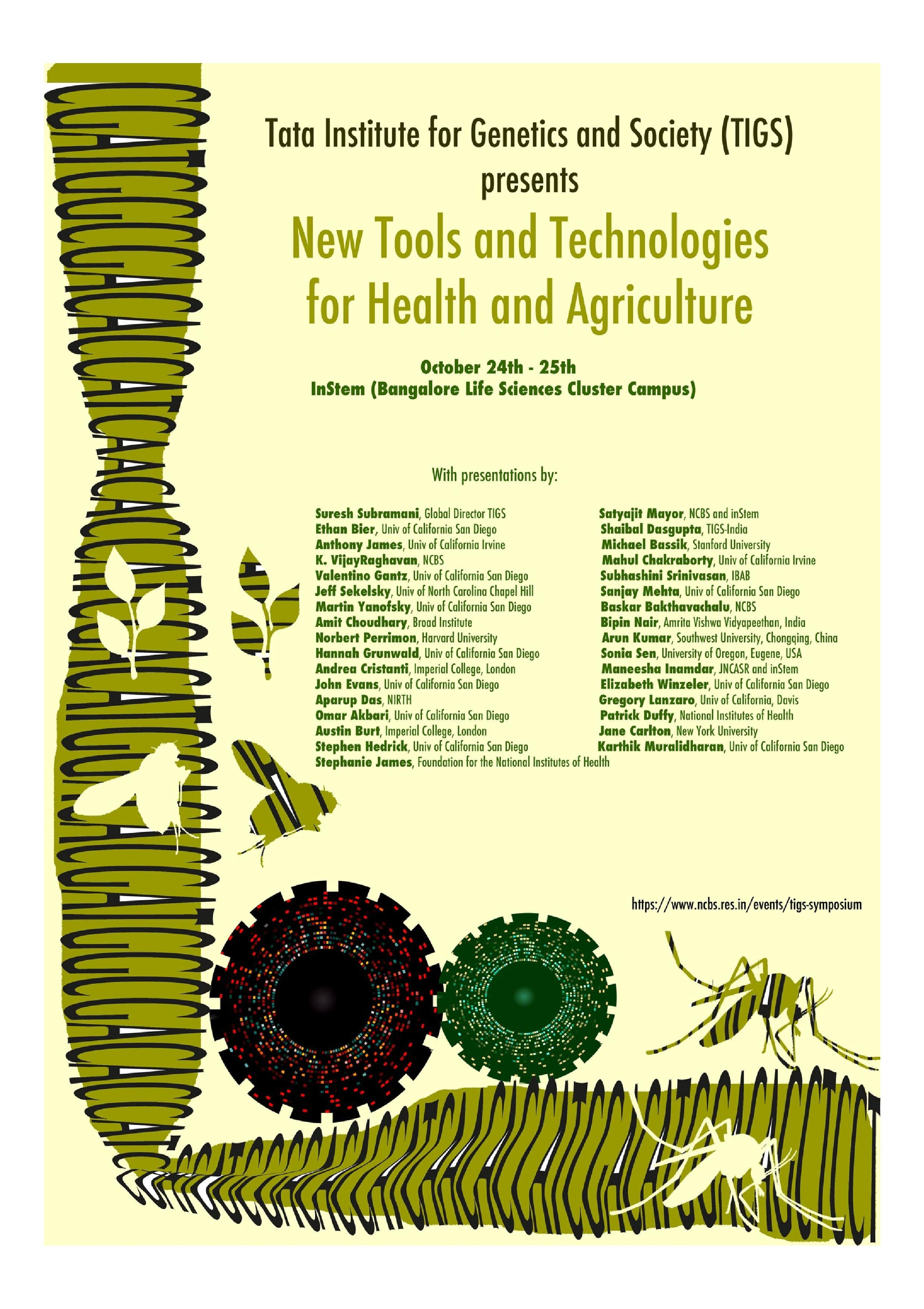 New Tools and Technologies for Health and Agriculture | NCBS